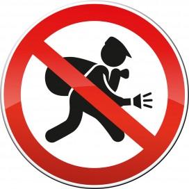 Schild Einbrecher Sicherheit