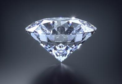 Diamant auf Grau