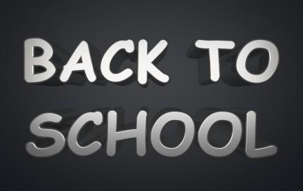 Back To School text on dark background